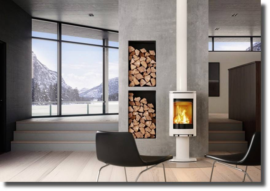 JOTUL F373 EMAILLE BLANC